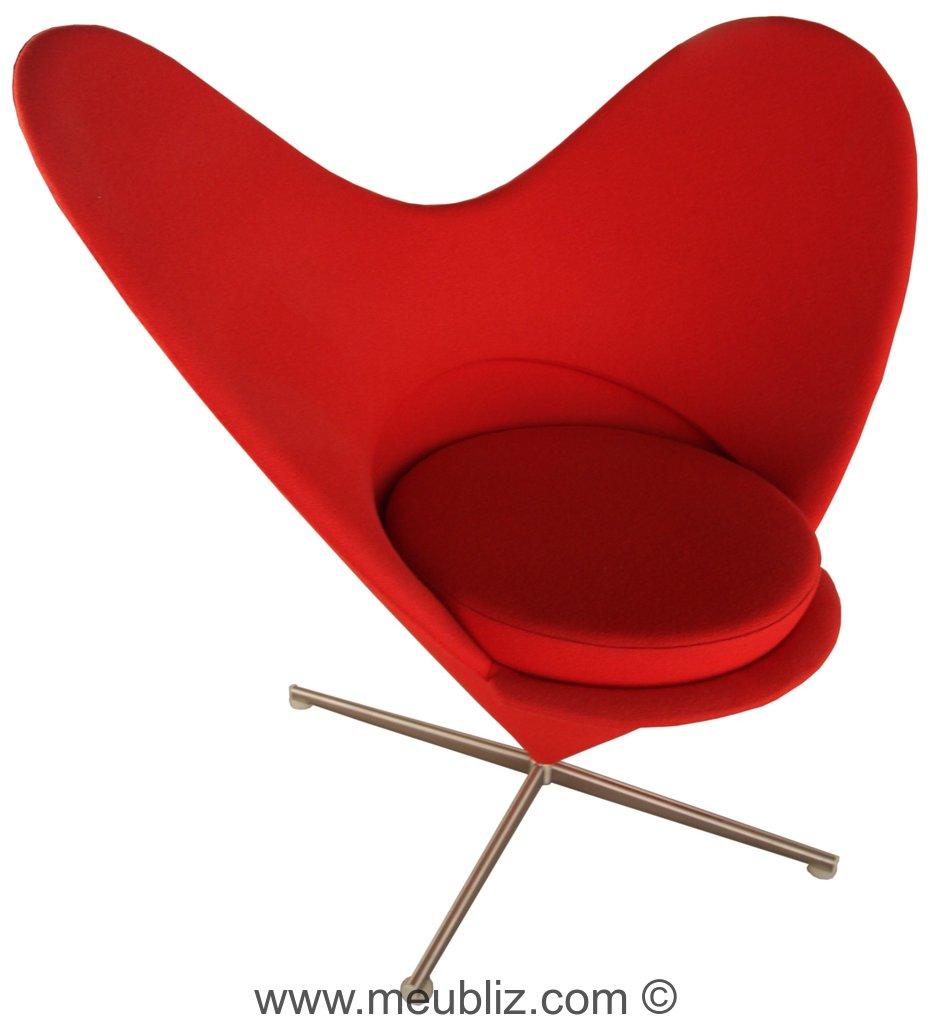 chaise heart c ne par verner panton meuble design. Black Bedroom Furniture Sets. Home Design Ideas