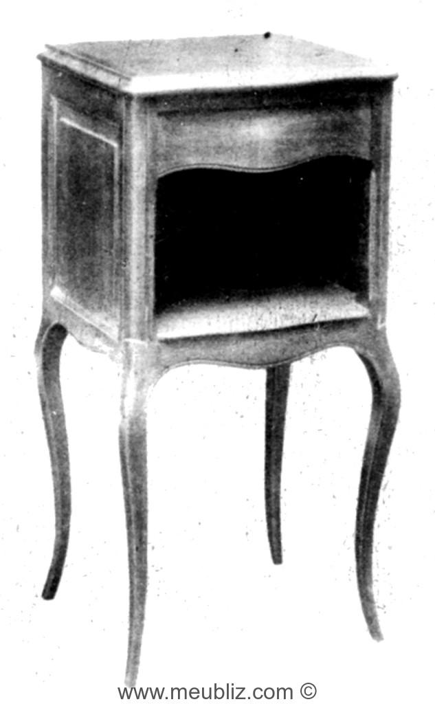table de chevet louis xv niche - Table De Nuit Rustique