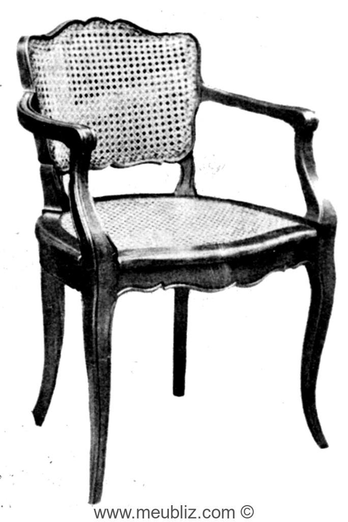 fauteuil bridge louis xv cann petit dossier meuble de. Black Bedroom Furniture Sets. Home Design Ideas