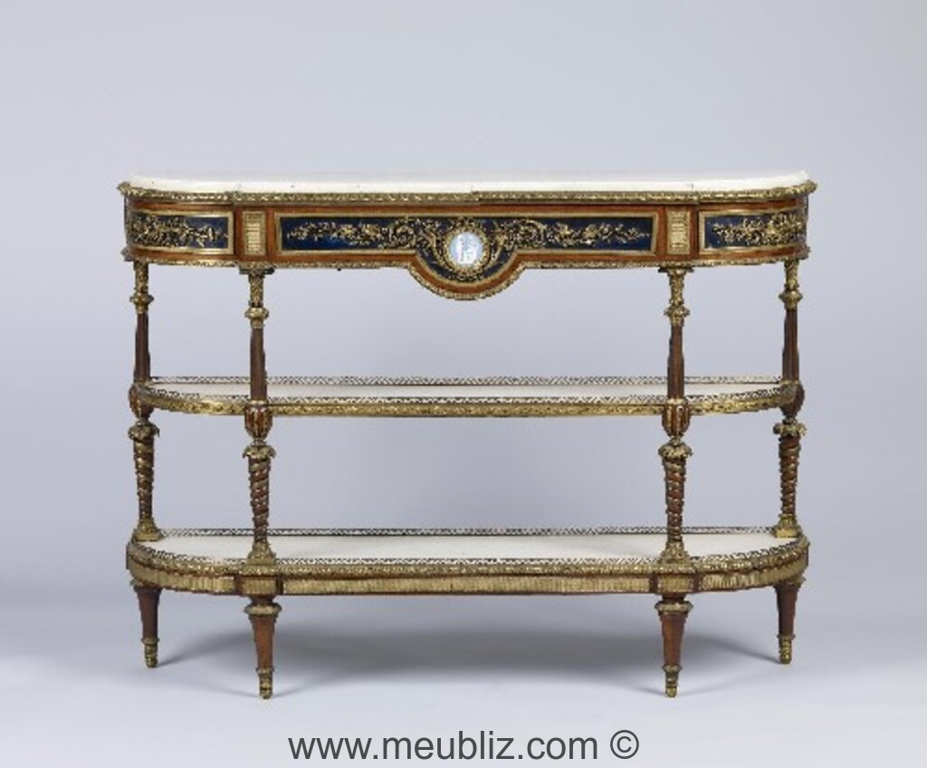 console louis xvi un l gant meuble d 39 entr e et de vestibule. Black Bedroom Furniture Sets. Home Design Ideas