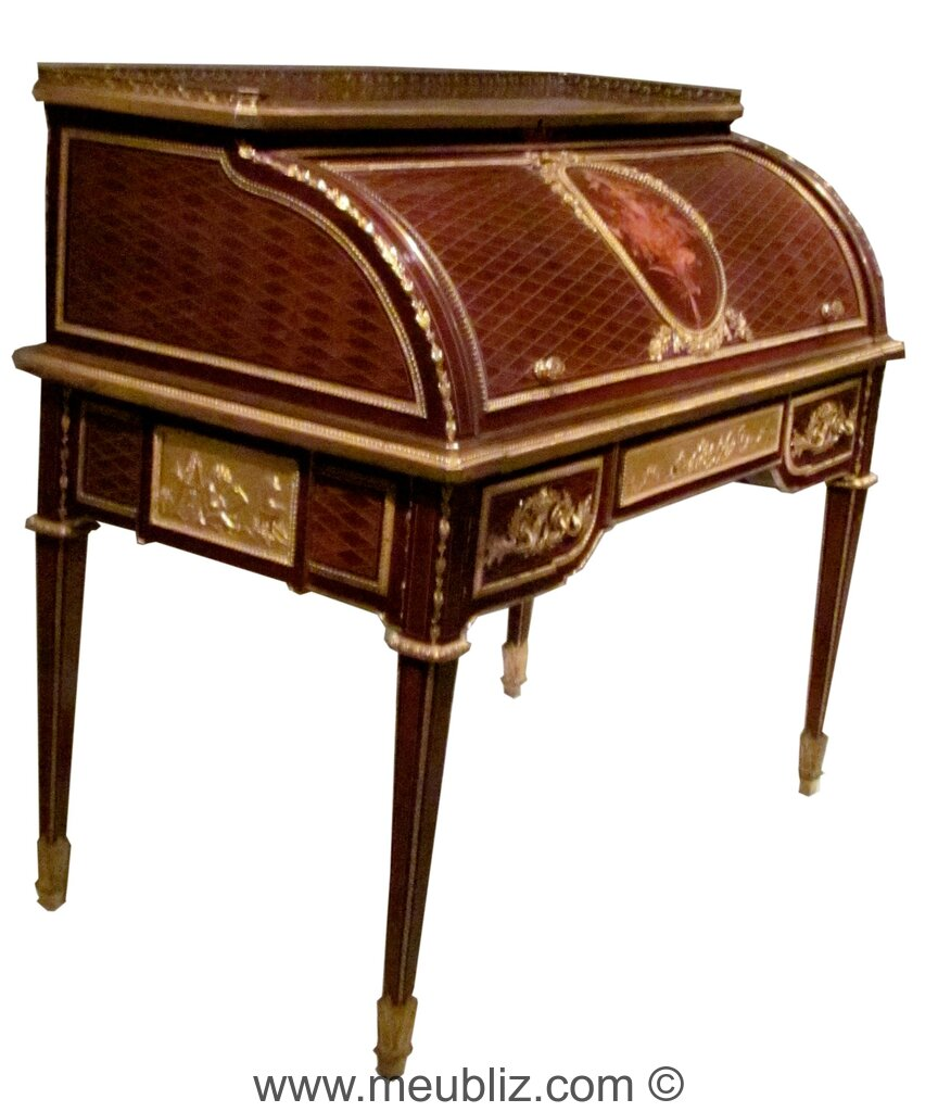bureau cylindre louis xvi meuble de style. Black Bedroom Furniture Sets. Home Design Ideas