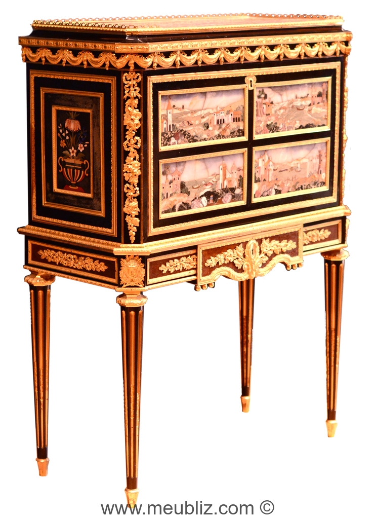 cabinet louis xvi haut pi tement meuble de style. Black Bedroom Furniture Sets. Home Design Ideas