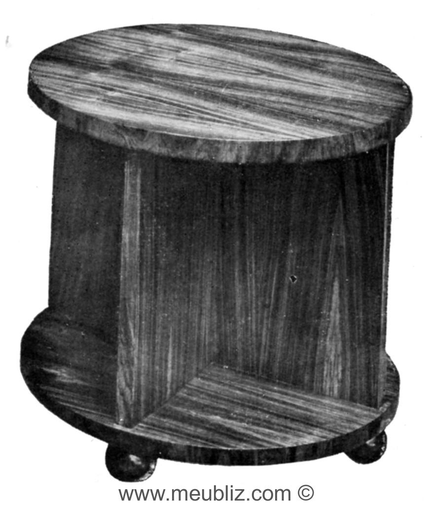 Table Basse Ronde Art Deco petite table basse art déco ronde à piétement plein en