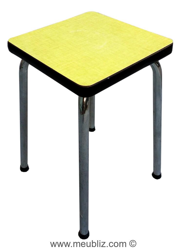 Tabouret de cuisine tubulaire et formica meuble design for Table de cuisine formica