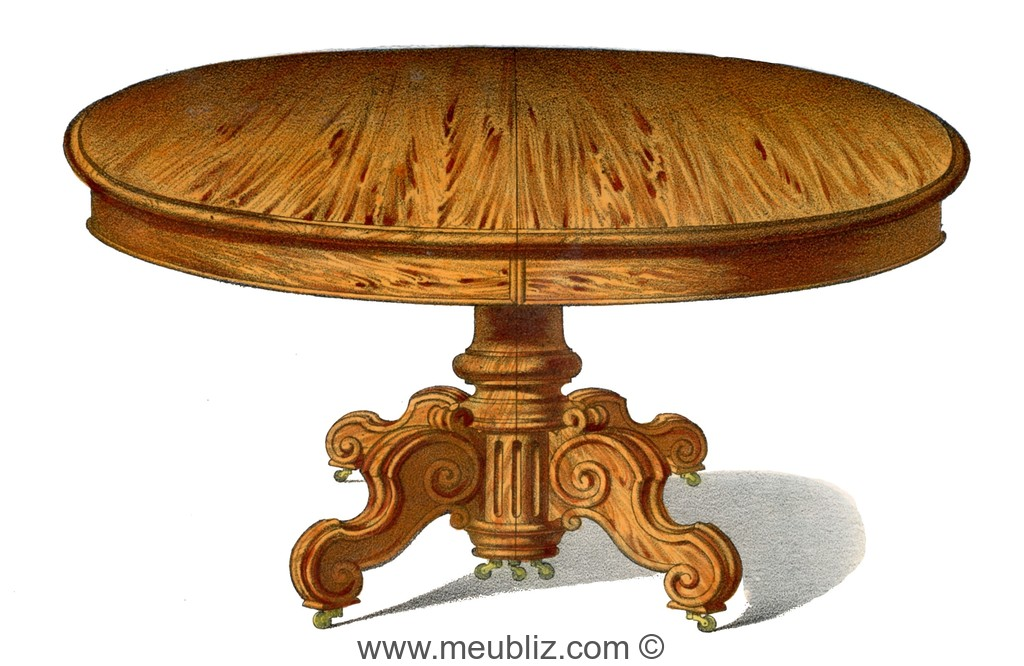 Table louis philippe forme massive mais solide for Grande table ronde