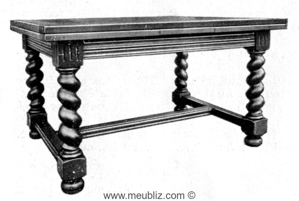 Grande table de salle manger louis xiii pieds tourn s for Table de salle a manger style ancien