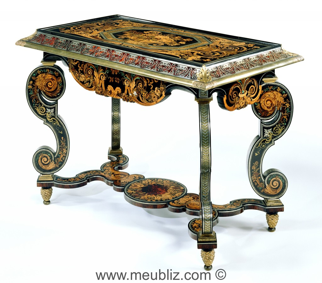 console de milieu louis xiv de style boulle pieds en console meuble de style. Black Bedroom Furniture Sets. Home Design Ideas