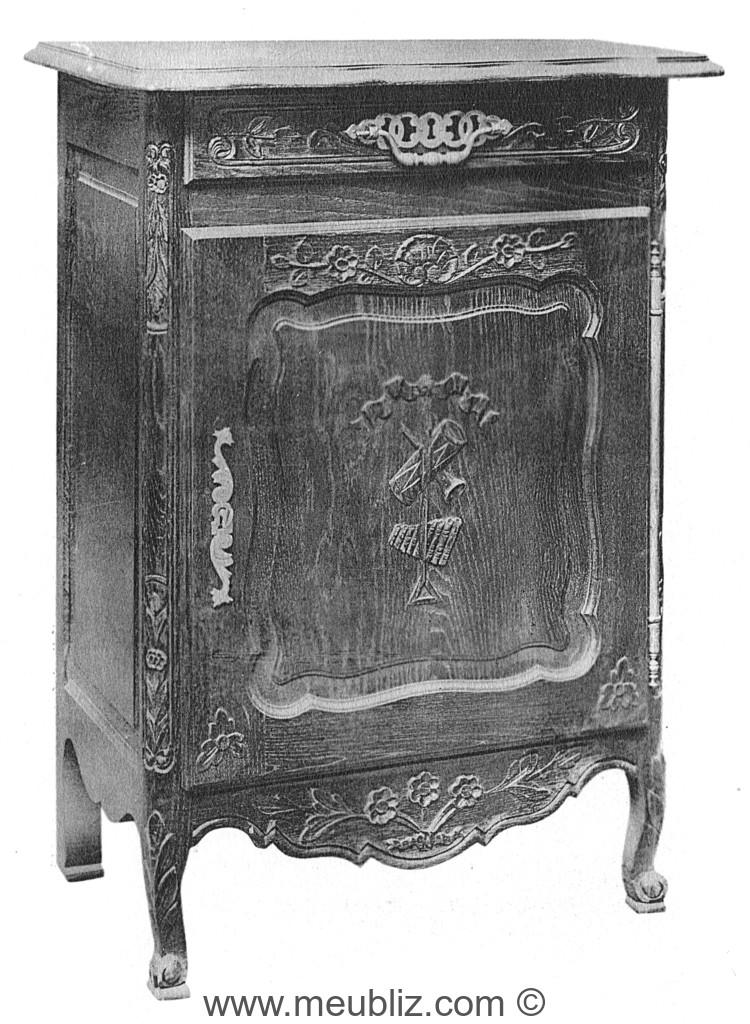Confiturier louis xv meuble ancien bas et une porte meuble de style - Meuble confiturier ancien ...