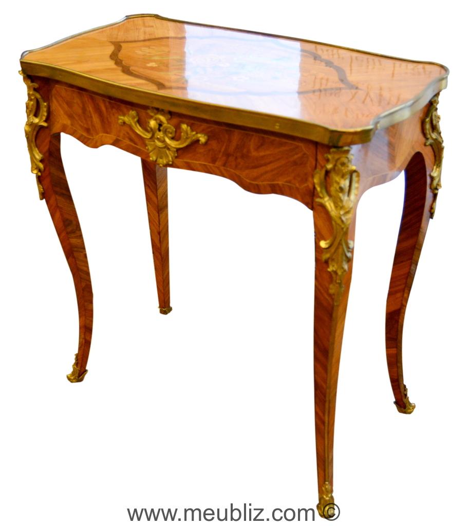 Petite table louis xv pieds de biche meuble de style - Meubles faubourg saint antoine ...