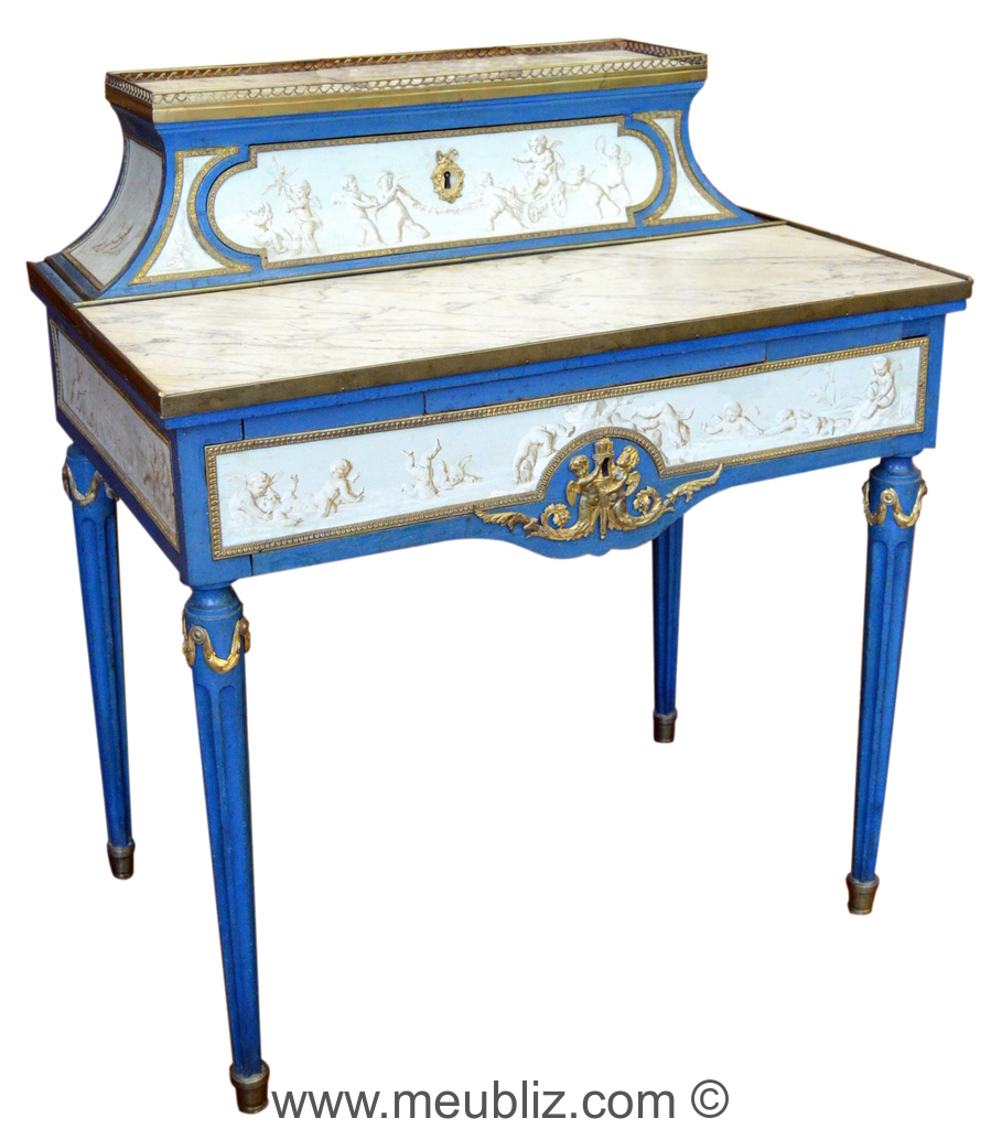 Bonheur du jour louis xvi meuble de style for Meuble bonheur du jour
