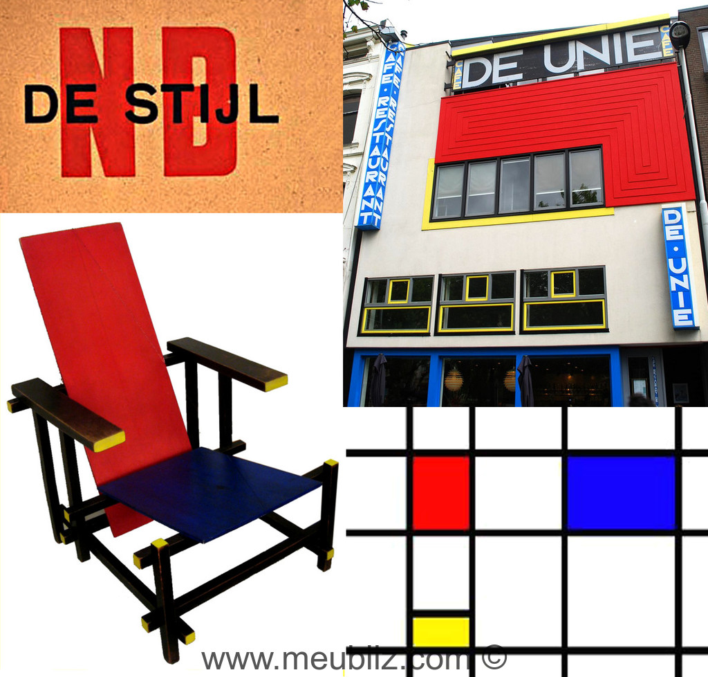 style de stijl inspiration cubiste. Black Bedroom Furniture Sets. Home Design Ideas