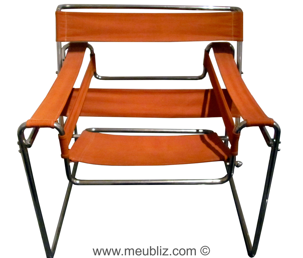 Fauteuil B3 « Wassily » Structure tubulaire innovante
