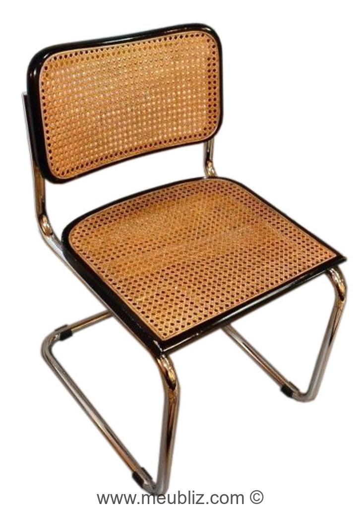 chaise b32 et s32 cesca premi re chaise en porte faux par marcel breuer meuble design. Black Bedroom Furniture Sets. Home Design Ideas
