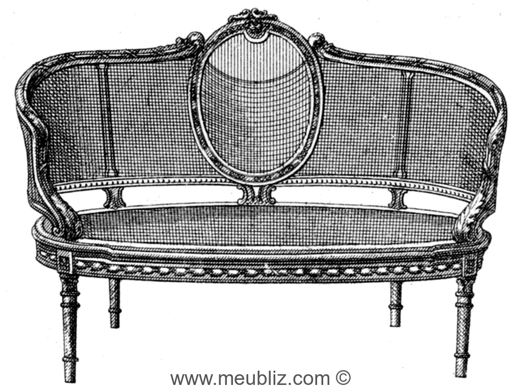canap en corbeille louis xvi cann meuble de style. Black Bedroom Furniture Sets. Home Design Ideas
