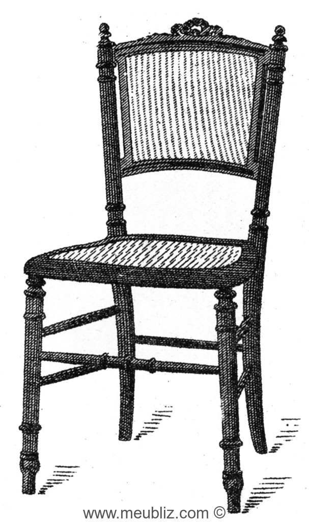 Chaise volante louis xvi dossier garni meuble de style for Chaise volante