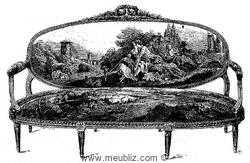 canapé à dossier ovale en tapisserie de Beauvais - XVIIIe siècle