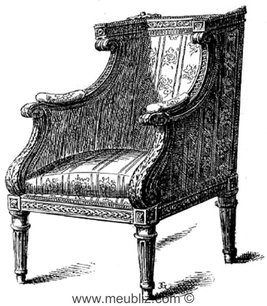 berg re en confessionnal louis xvi accotoir en console. Black Bedroom Furniture Sets. Home Design Ideas