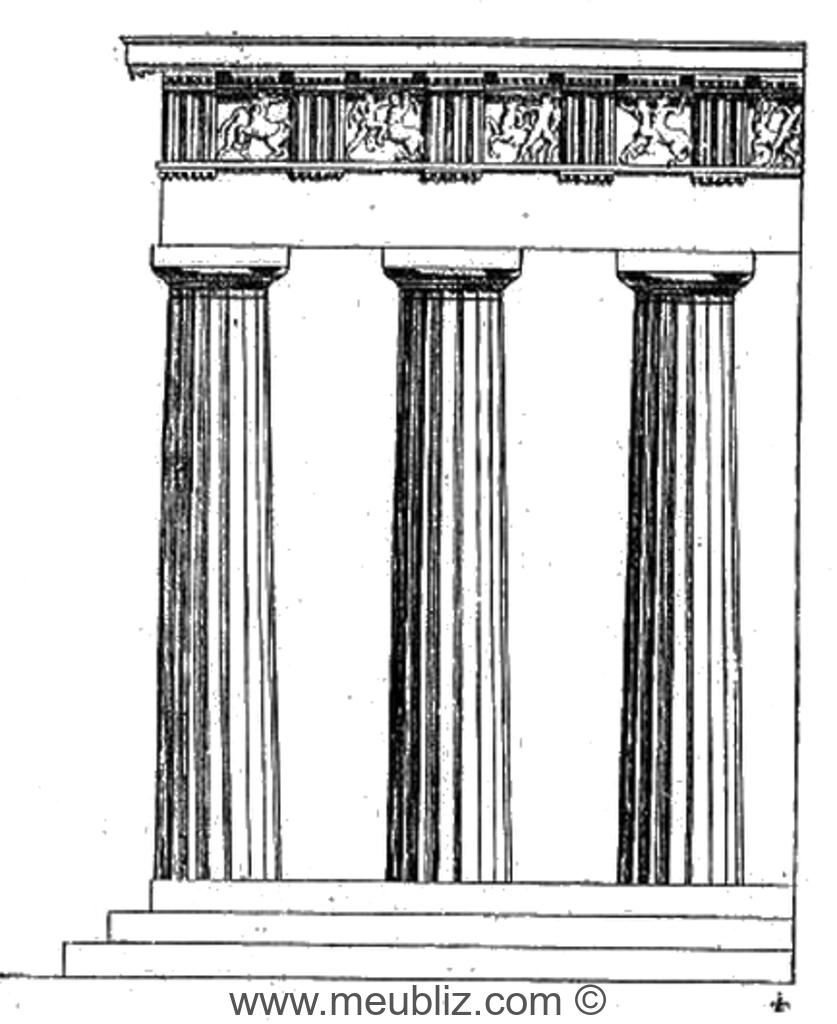 D finition de l 39 ordre dorique r pertoire classique for Architecture classique definition
