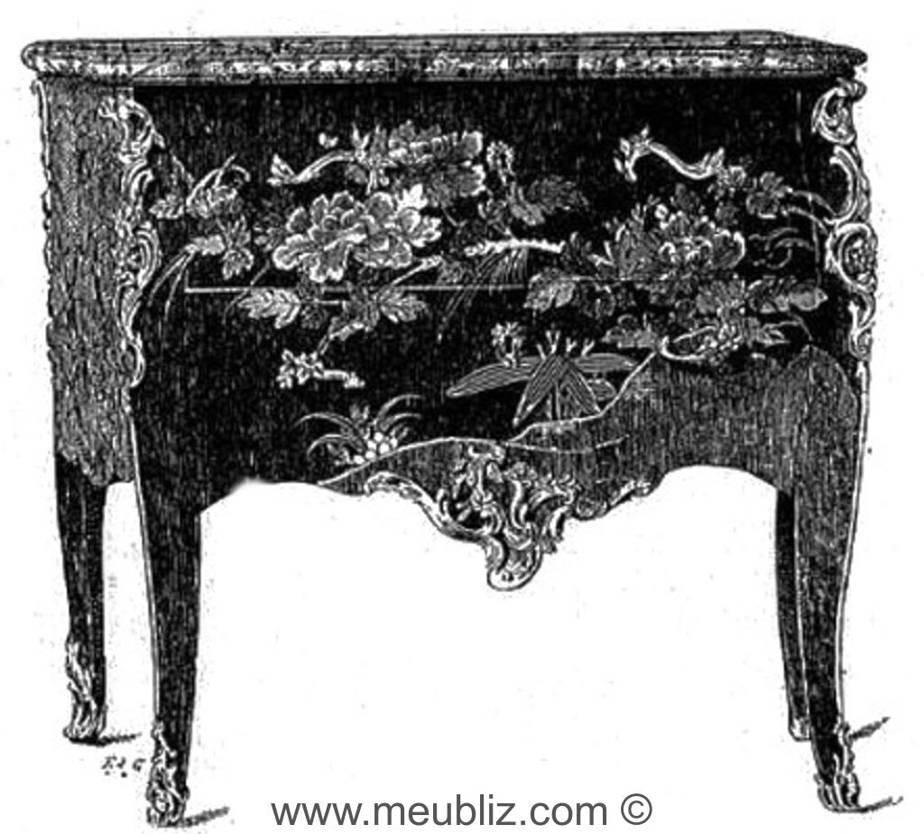 Commode Sauteuse Galb E Louis Xv Laqu E Meuble De Style # Meuble Copie Chinois