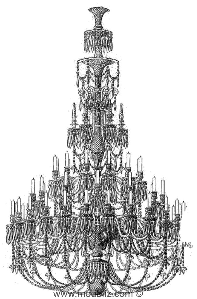 Lustre en cristal sous la restauration et louis philippe