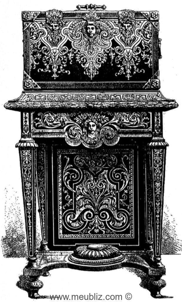 meuble louis xiv - corbeille de mariage louis xiv sur pi tement haut meuble
