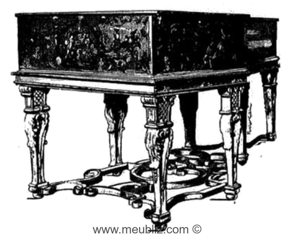 clavecin de style Louis XIV.