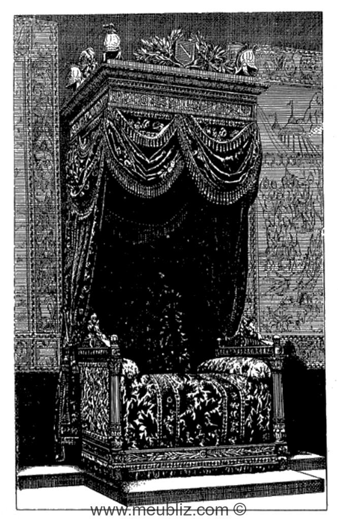 lit la duchesse empire meuble de style. Black Bedroom Furniture Sets. Home Design Ideas