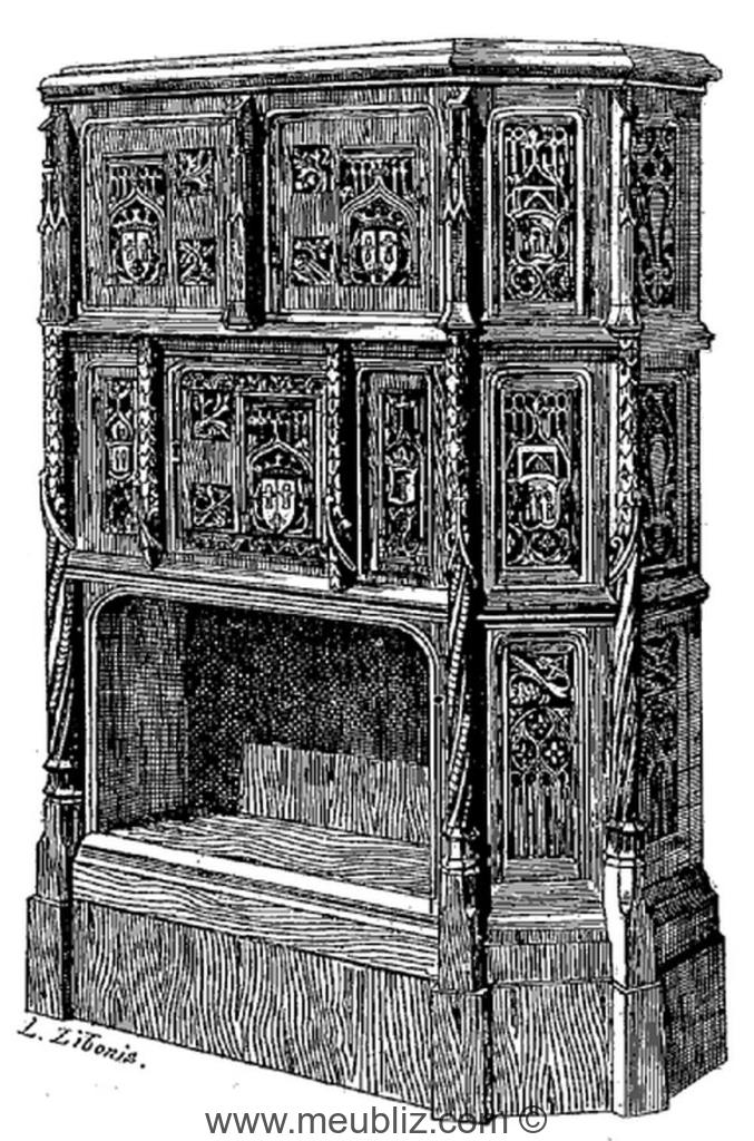 cr dence gothique pans coup s meuble de style. Black Bedroom Furniture Sets. Home Design Ideas