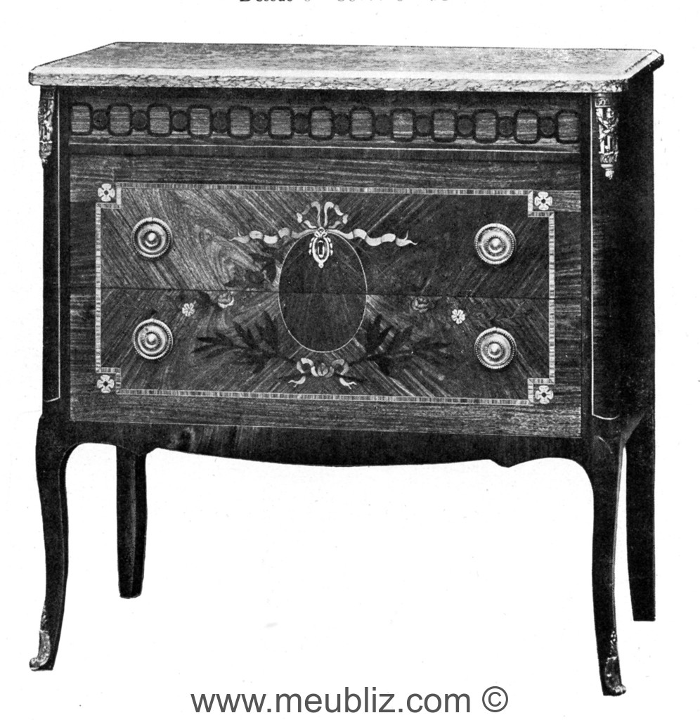 petite commode transition la grecque meuble de style. Black Bedroom Furniture Sets. Home Design Ideas