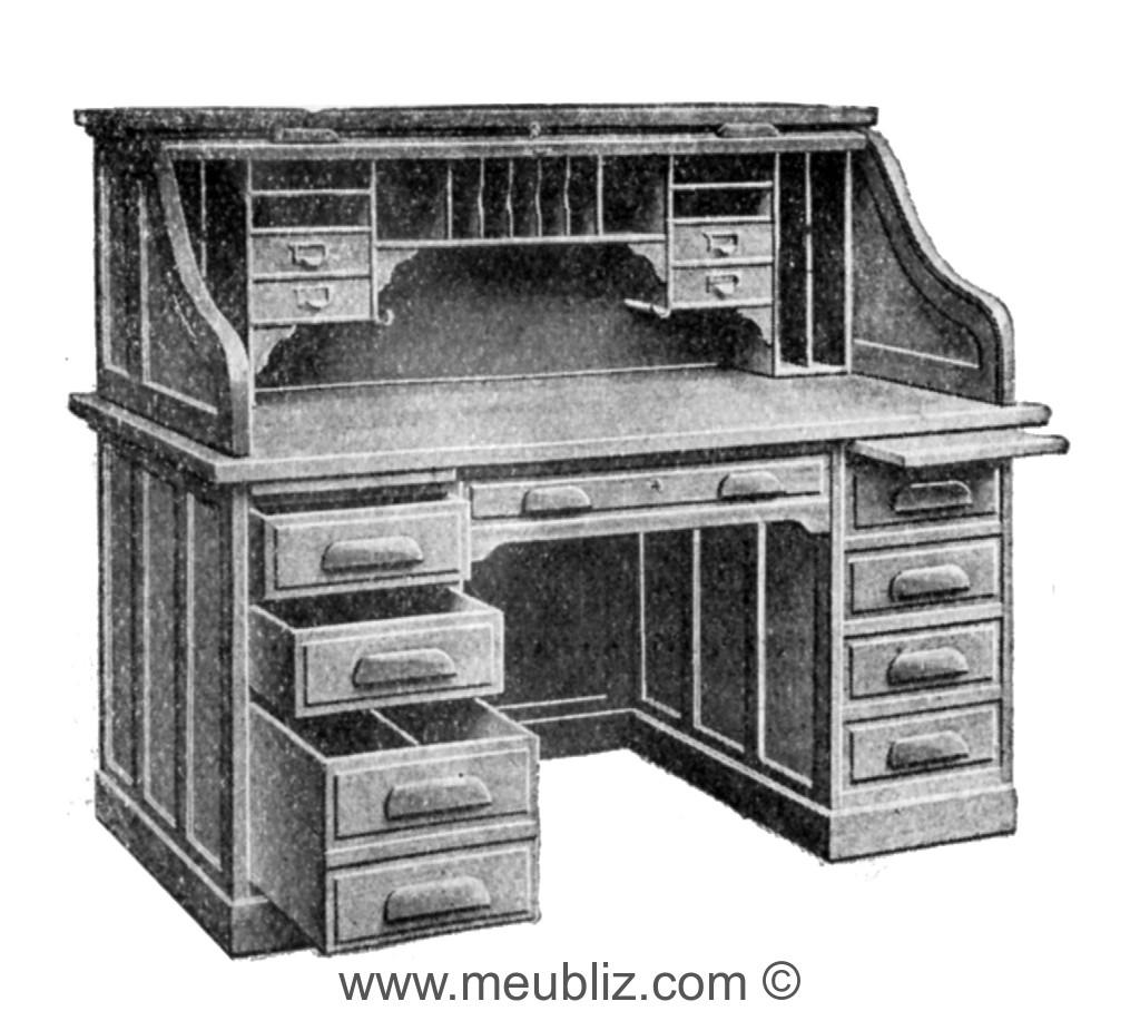 bureau am ricain rideau meuble classique. Black Bedroom Furniture Sets. Home Design Ideas