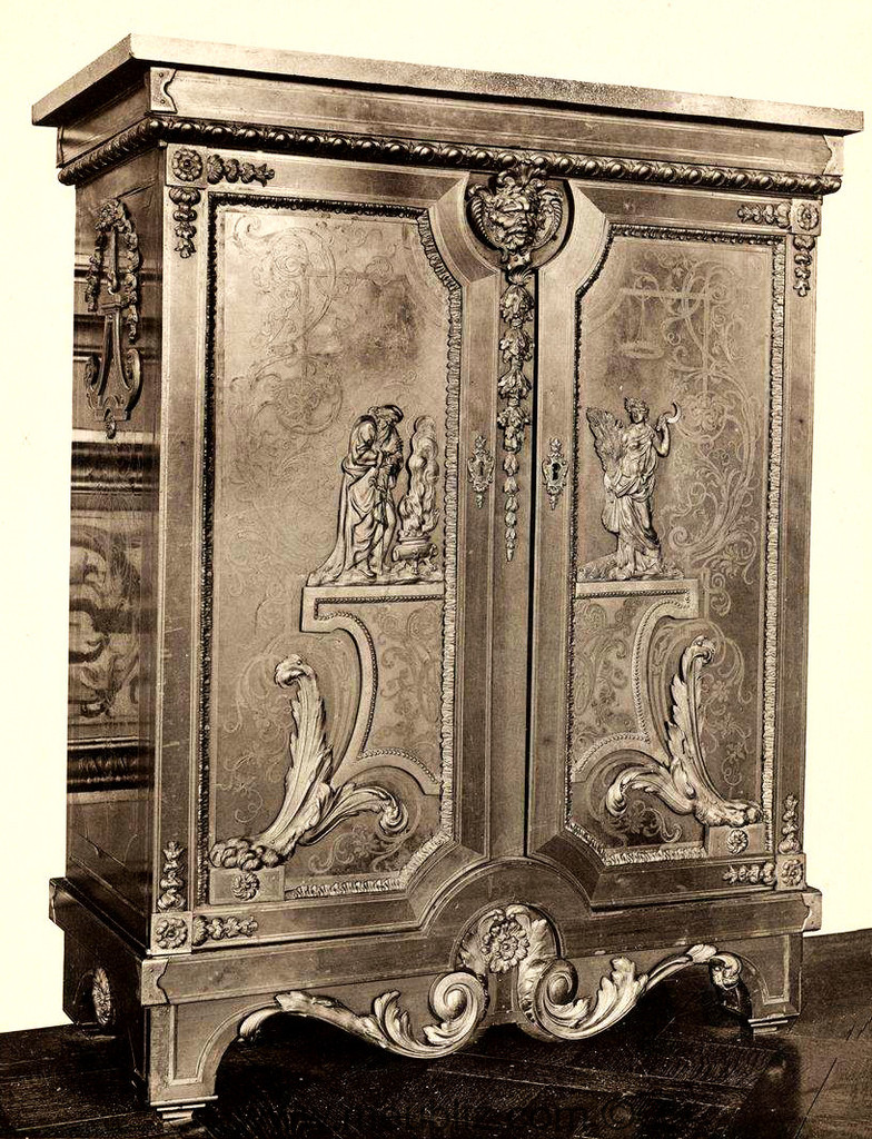 meuble d 39 entre deux louis xiv de style boulle meuble de style. Black Bedroom Furniture Sets. Home Design Ideas