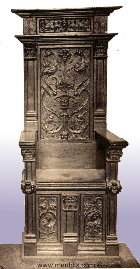 chaire renaissance fran aise meuble de style. Black Bedroom Furniture Sets. Home Design Ideas