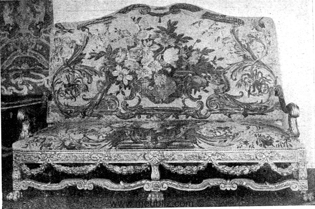 grand canap louis xiv six pieds meuble de style. Black Bedroom Furniture Sets. Home Design Ideas
