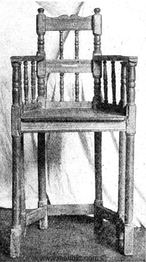 Caquetoire renaissance fran aise haute assise meuble for Haute renaissance