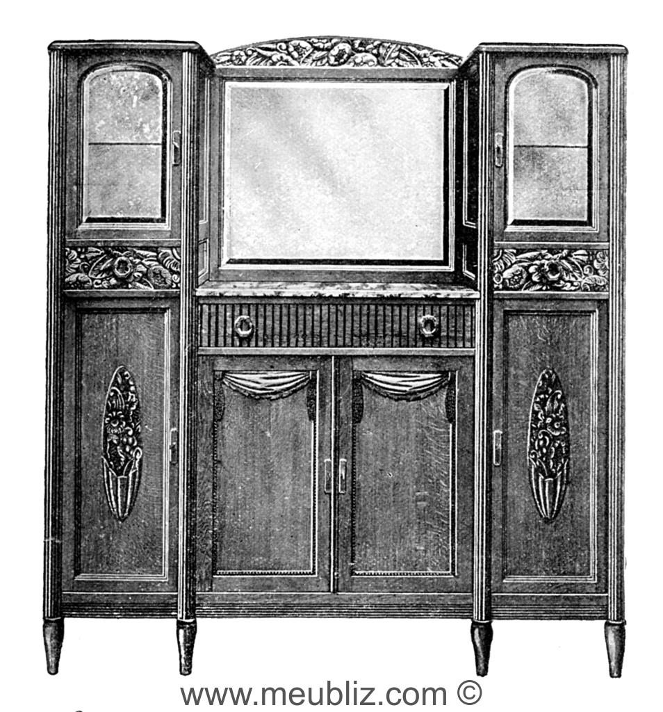 meuble en miroir art deco elegant commode en miroir les meubles en miroir reflet dune tendance. Black Bedroom Furniture Sets. Home Design Ideas
