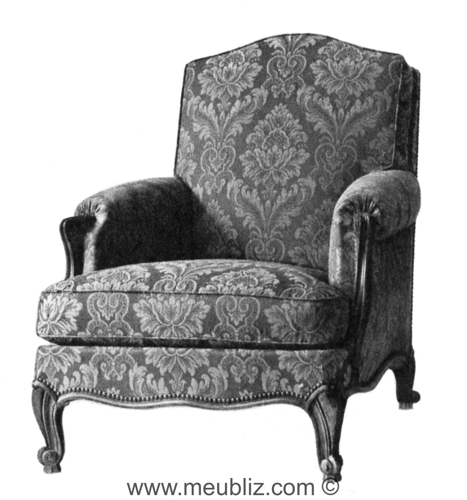 fauteuil confortable louis xv meuble de style. Black Bedroom Furniture Sets. Home Design Ideas