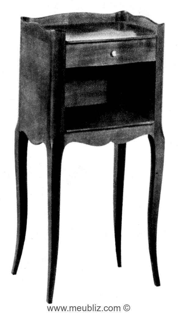 table de chevet louis xv rustique tiroir et niche - Table De Nuit Rustique
