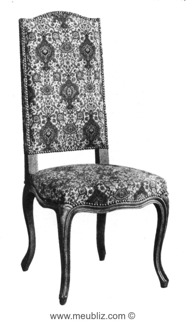 chaise louis xv dossier droit de style louis xiv. Black Bedroom Furniture Sets. Home Design Ideas