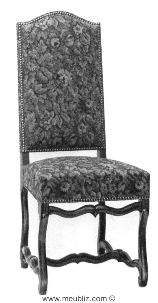 chaise louis xiii garnie grand dossier et pi tement en os de mouton meuble de style. Black Bedroom Furniture Sets. Home Design Ideas
