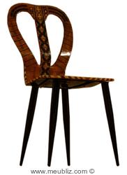 chaise Mandoline de Piero Fornasetti