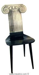 chaise ionique de Piero Fornasetti