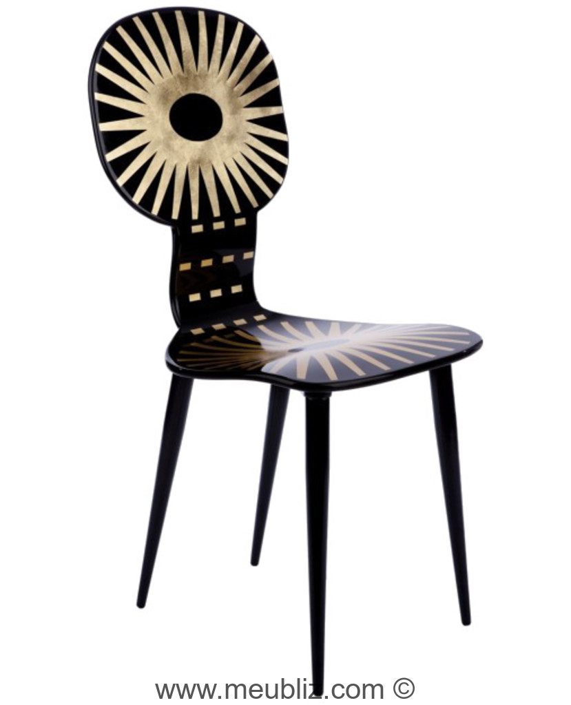 chaise soleil dossier rond par piero fornasetti meuble design. Black Bedroom Furniture Sets. Home Design Ideas
