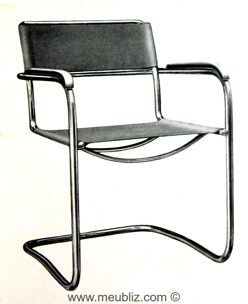 fauteuil b34 par marcel breuer meuble design. Black Bedroom Furniture Sets. Home Design Ideas