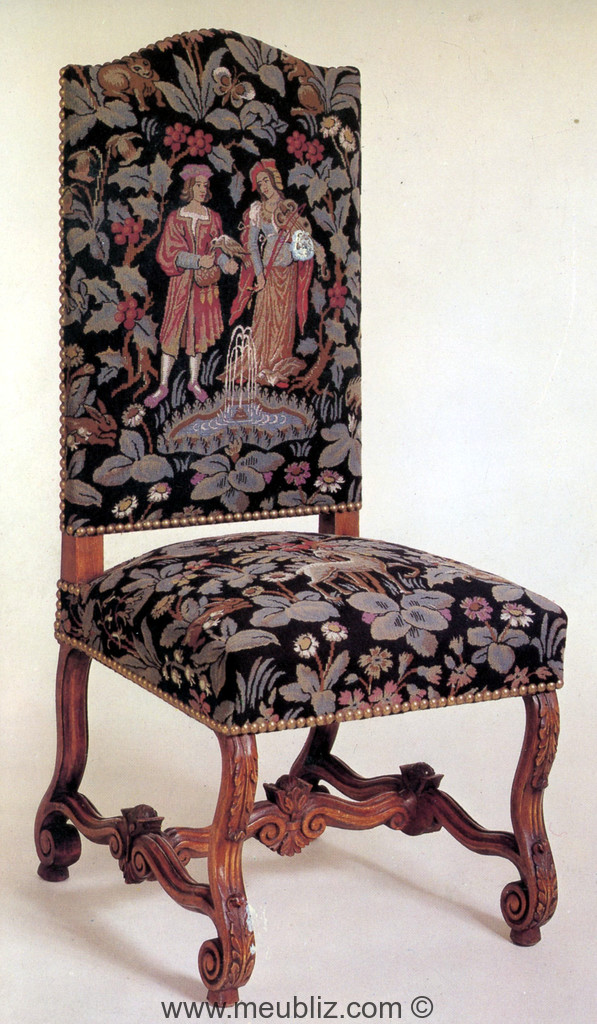 Chaise Louis XIV A Tapisserie