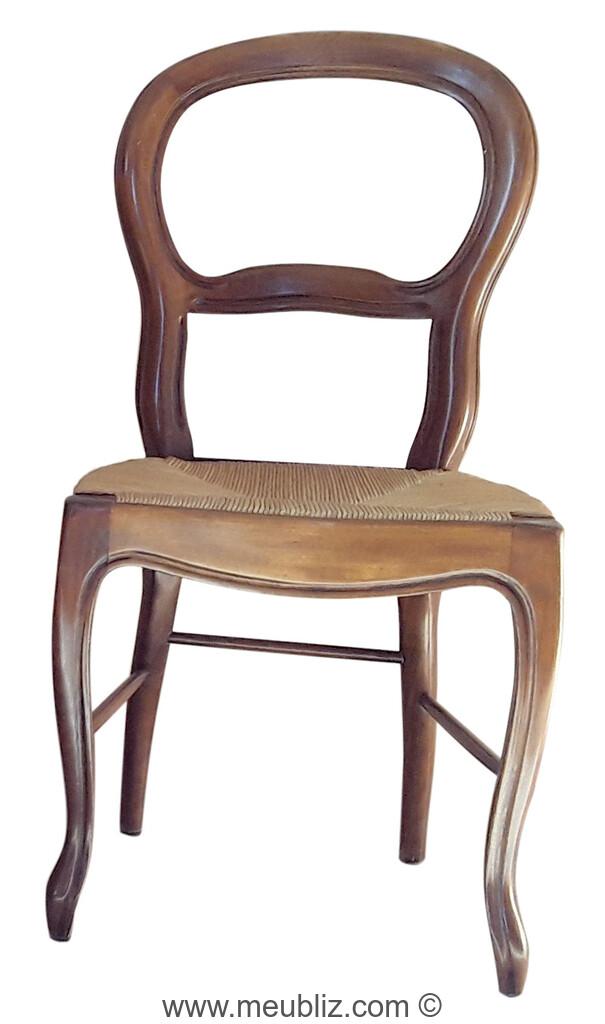 chaise louis philippe a dossier en