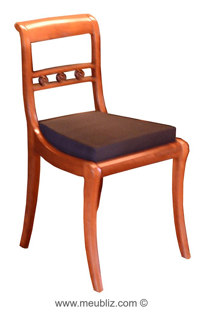 chaise restauration louis philippe dossier barrette simple et pieds en sabre meuble de style. Black Bedroom Furniture Sets. Home Design Ideas