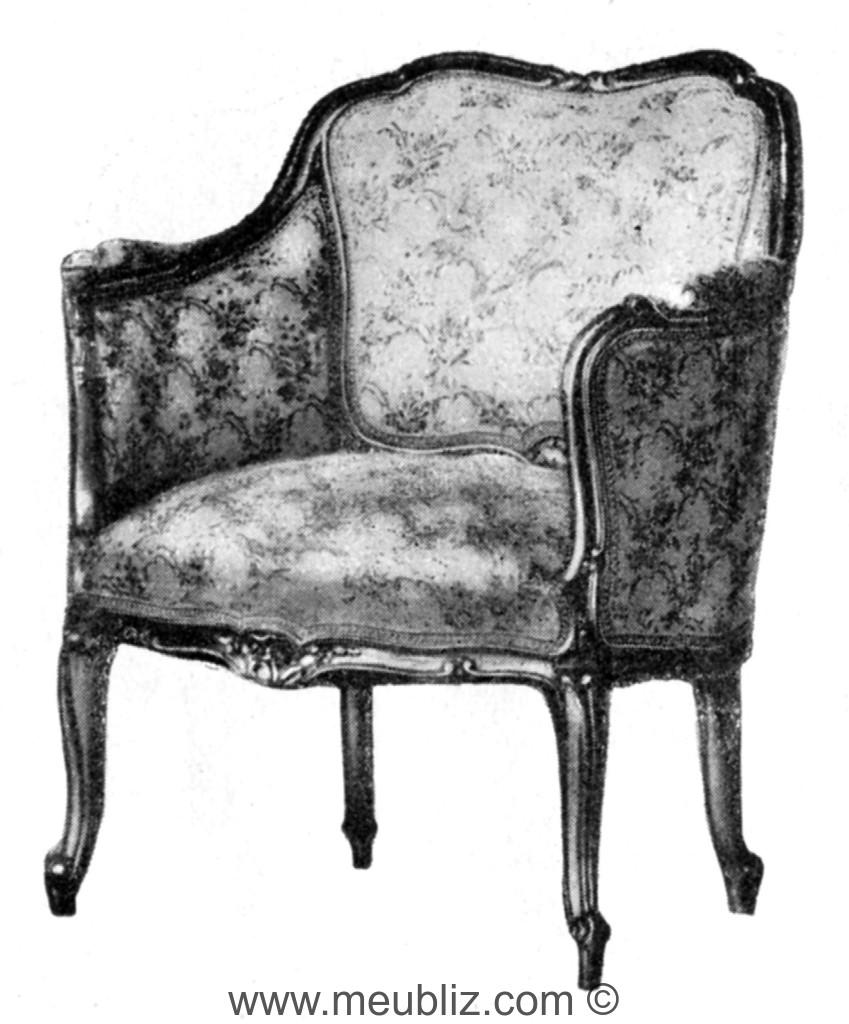 berg re louis xv dossier bas et plat meuble de style. Black Bedroom Furniture Sets. Home Design Ideas