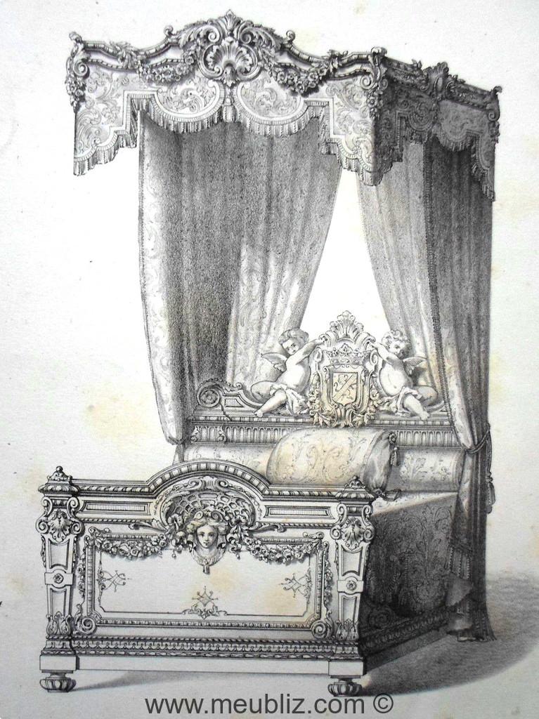 lit la duchesse louis xiv meuble de style. Black Bedroom Furniture Sets. Home Design Ideas