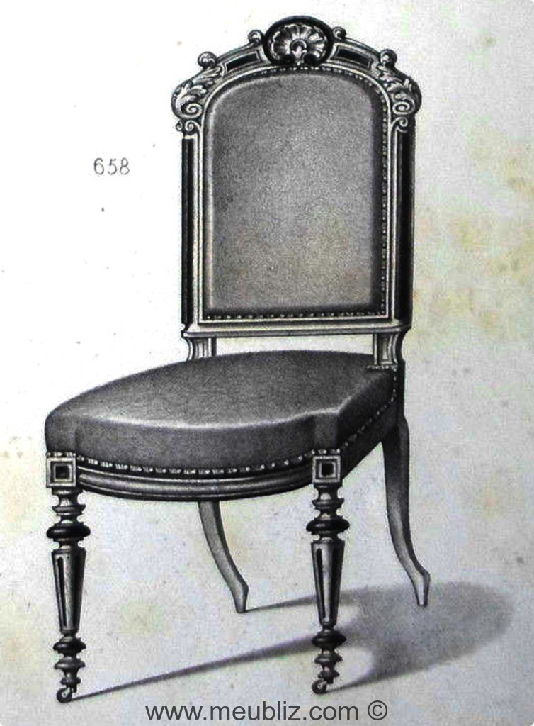 Chaise de salle à manger Napoléon III néoclassique à grand