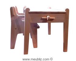 chaise enfant CH410 (Peter's chair) et table enfant CH411 (Peter's table) de Hans Wegner